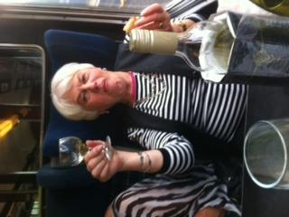 Maureen on the steam train Friday 4th Jult 2014 db